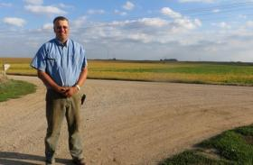 In O'Brien County, Iowa, Jay Hofland has agreed to sell part of his land to an energy company for a conver station that would mark the beginning of a high voltage transmission traversing the state.