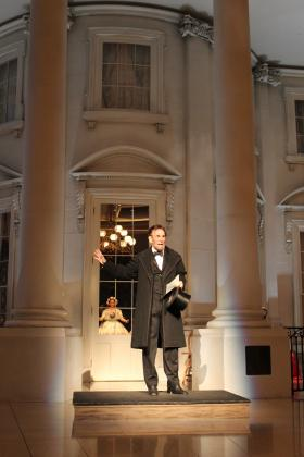 Fritz Klein, as Abraham Lincoln, on the 150th anniversary of the Gettysburg Address.
