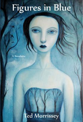Cover design for 'Figures in Blue' by Felicia Olin