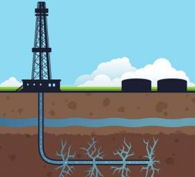 Horizontal hydraulic fracturing, or fracking, involves pumping massive amounts of water and chemicals underground, shattering rock, in order to release oil and natural gas.
