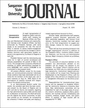 Sangamon State University Journal