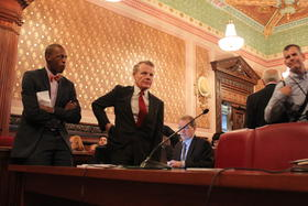 House Speaker Michael Madigan sponsored the pension overhaul, which state employees' and teachers' unions say unfairly cuts their benefits.
