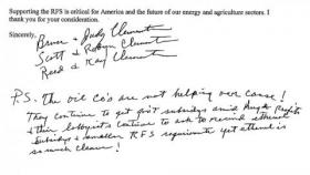 Some commenting on the EPA's proposal to reduce the ethanol mandate even include hand-written appeals.