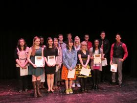 Area high school students who competed in the 2014 Central Illinois 'Poetry Out Loud' Regional Contest