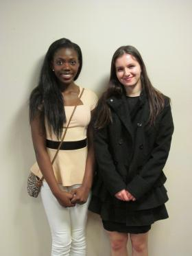 Runner-up, Annabelle Emuze from Southeast HS in Springfield & Winner, Annie Kefalas from St. Teresa HS in Decatur