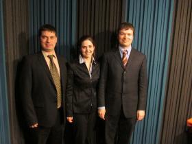 Oleksandr Makovskyi, Christina Dobrovolska, and Roman Yemets (from left to right).
