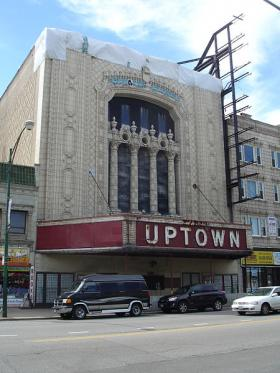 The Uptown Theatre in Chicago is on Landmarks Illinois' 2014 list of endangered historic sites.