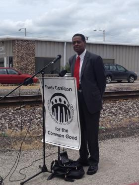Retired Judge Theodis Lewis will serve as ombudsman for the 10th Street Rail Corridor project. Lewis addressed a press conference at the location of the first construction, at 10th and Carpenter, on Monday.