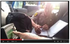 A screenshot of the video Brian Miner posted of being pulled over in June by an Illinois State Trooper.