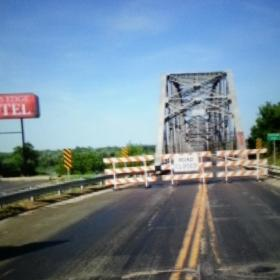 US 54 at Champ Clark Bridge closed due to Mississippi River flooding.
