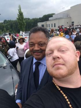 Ryne Goodrich snapped a selfie with Rev. Jesse Jackson in Ferguson on Sunday