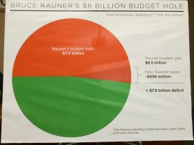 Lt. Gov. Paul Vallas says Republican gubernatorial candidate Bruce Rauner's budget plan would cut $8 billion from the state's General Revenue Fund.