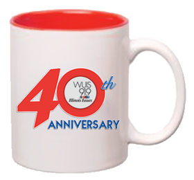 Start giving for the 40th Anniversary Fundraising Campaign at $5/month, increase by $5/month, or make a one-time gift of $60 or more for yourself or as a gift membership and receive this custom mug.