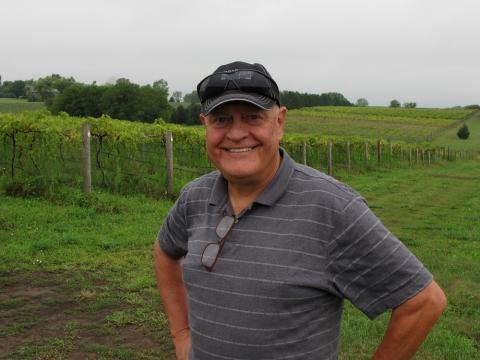 After a career as a mechanical engineer, Tom Zumpfe is starting a 16 acre vineyard and winery as a retirement project. His grape crop has been hampered by herbicide drift from neighboring farms.