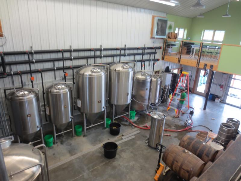 Inside operations at Rolling Meadows Brewery