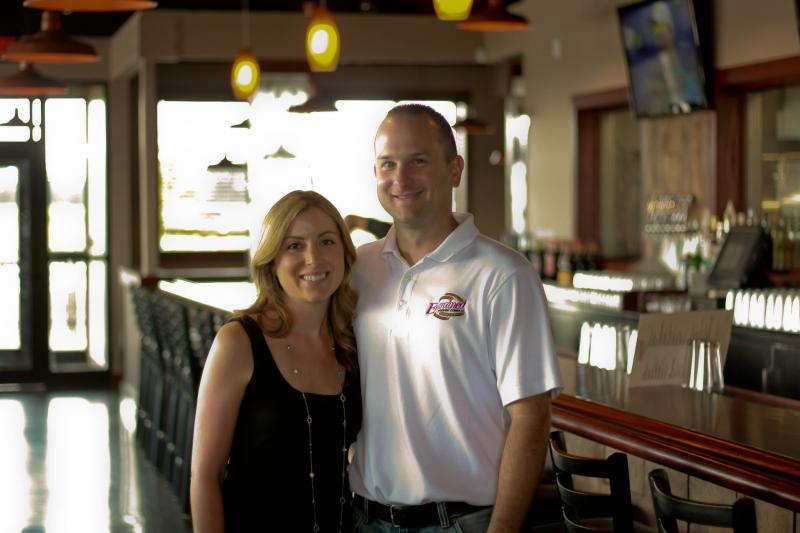 Melissa & Brent Schwoerer, owners of Engrained Brewing Company