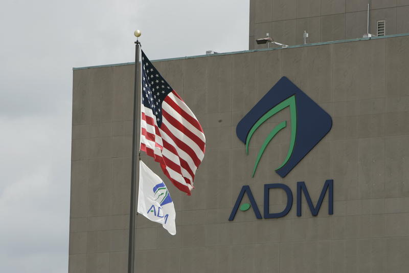 ADM logo on buliding
