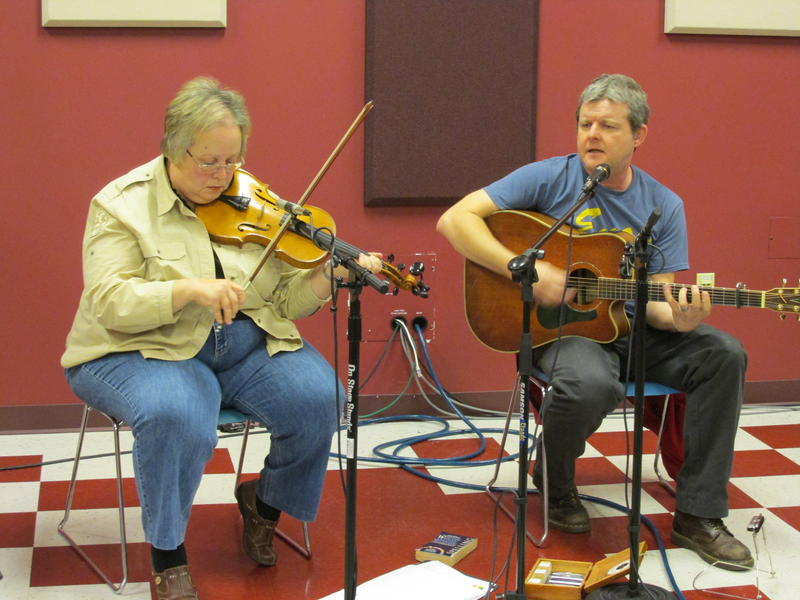 Maureen Douglas on fiddle & Mark Butler on vocals & guitar