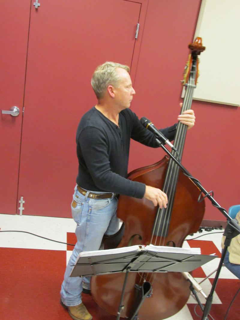 Mark Hudson on upright bass