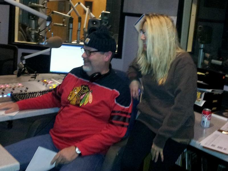Sean Burns & Amanda Vinicky during Sangamon Valley Roots Revival Radio Hour
