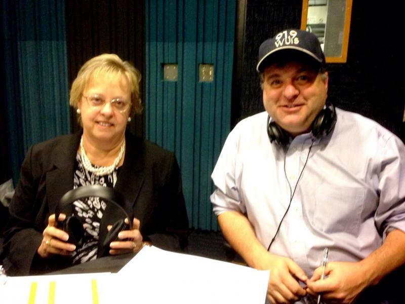 Cinda Klickna and Bill Wheelhouse ready for your comments about why you made a year end gift to WUIS.