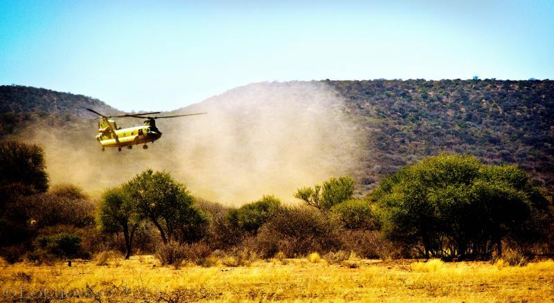 A Distant Dustoff, Botswana