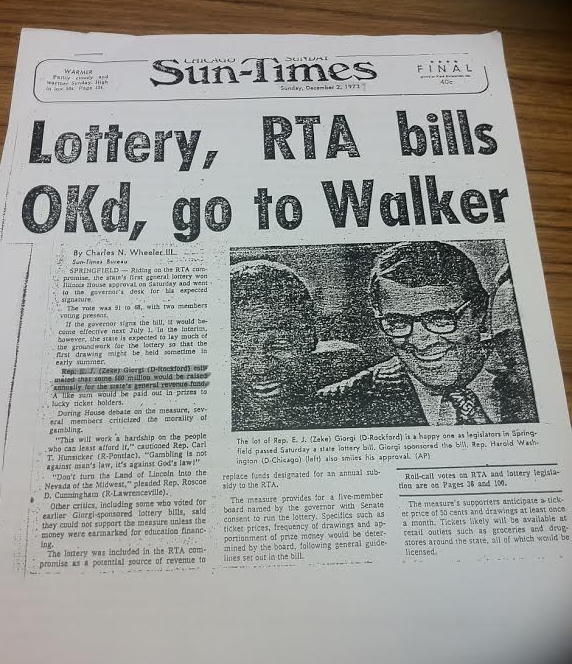 Headline from 1973, article by Charlie Wheeler