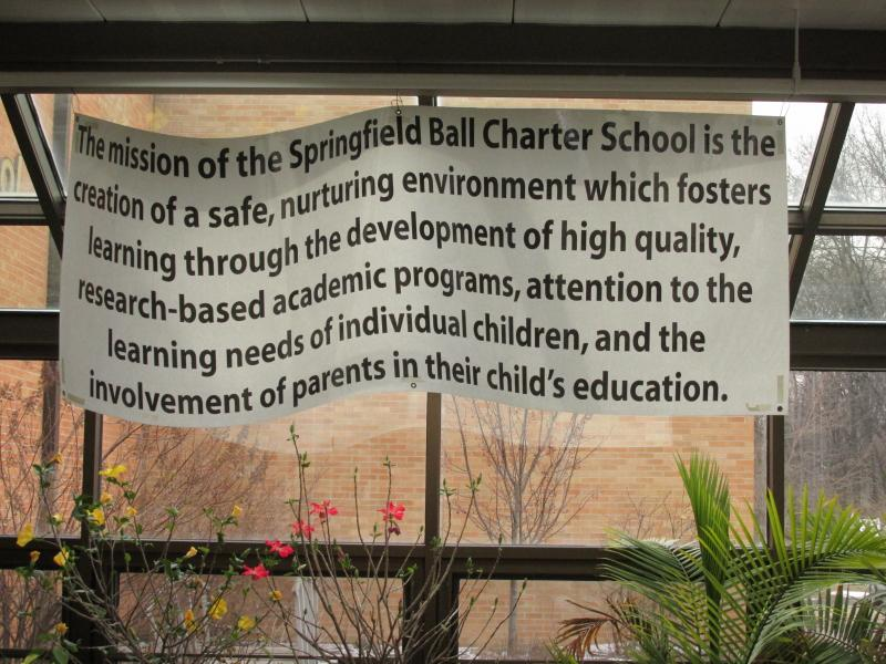 A sign at Ball Charter