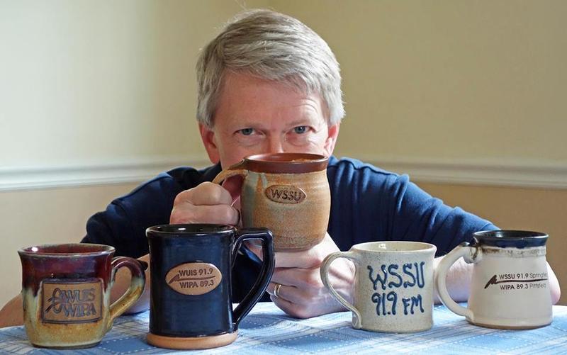 Mark Pencse with mugs