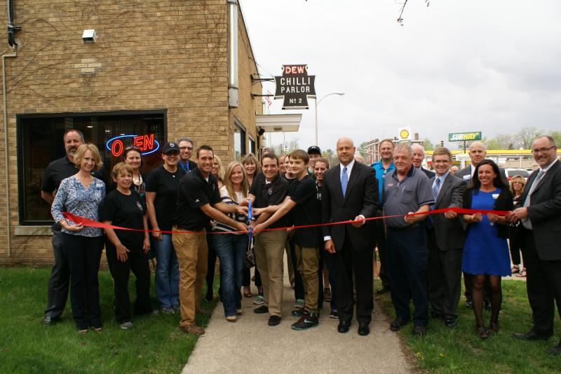 Dew Chilli ribbon cutting