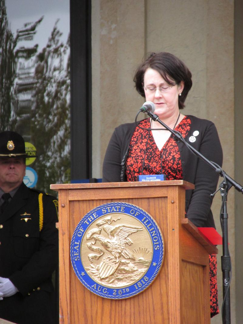 Pam Robtoy speaks about her late fiancee, U.S. Marshal John Perry, who was killed trying to arrest a fugitive in 2011.