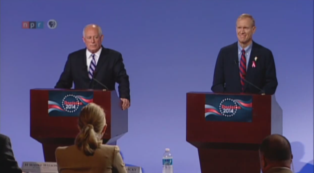 Pat Quinn and Bruce Rauner