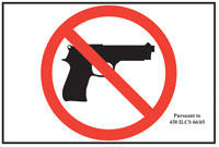 Any business that does not allow guns is required to post a sign approved by the Illinois State Police.