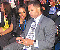 Sandi and Jesse Jackson Jr. at the 2008 Democratic Convention in Denver