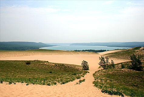 Glen Lake from Sleeping Bear Dune