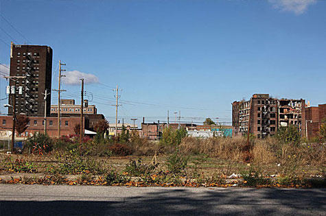 Vacant lots in East Saint Louis