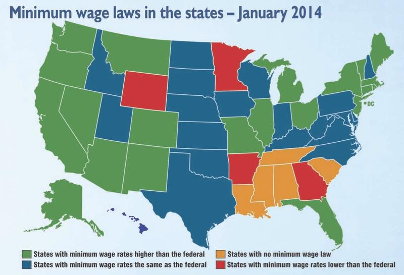 Minimum Wage Map