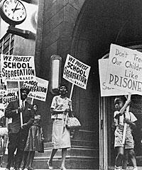 School Segregation Protesters