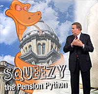 Squeezy the Pension Python