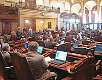 The Illinois Senate in session.