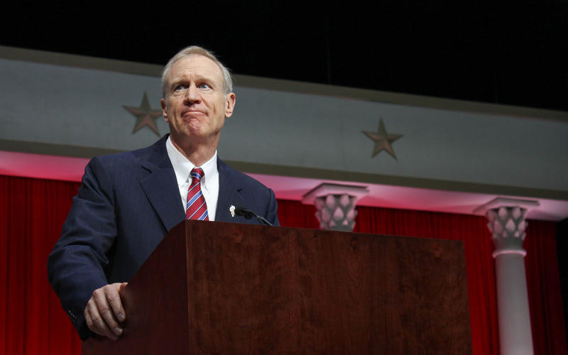 Bruce Rauner at Inauguration 2015