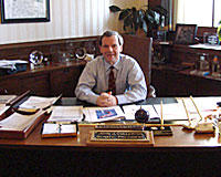Senate President John Cullerton in his Statehouse office.