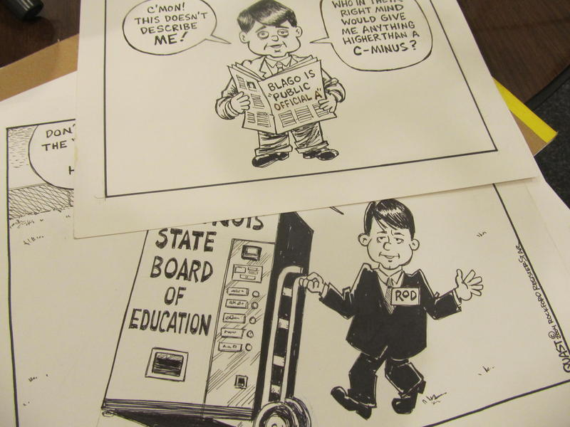 Comparison of Rod Blagojevich early in office and later on (Bruce Quast, Rockford Register-Star)