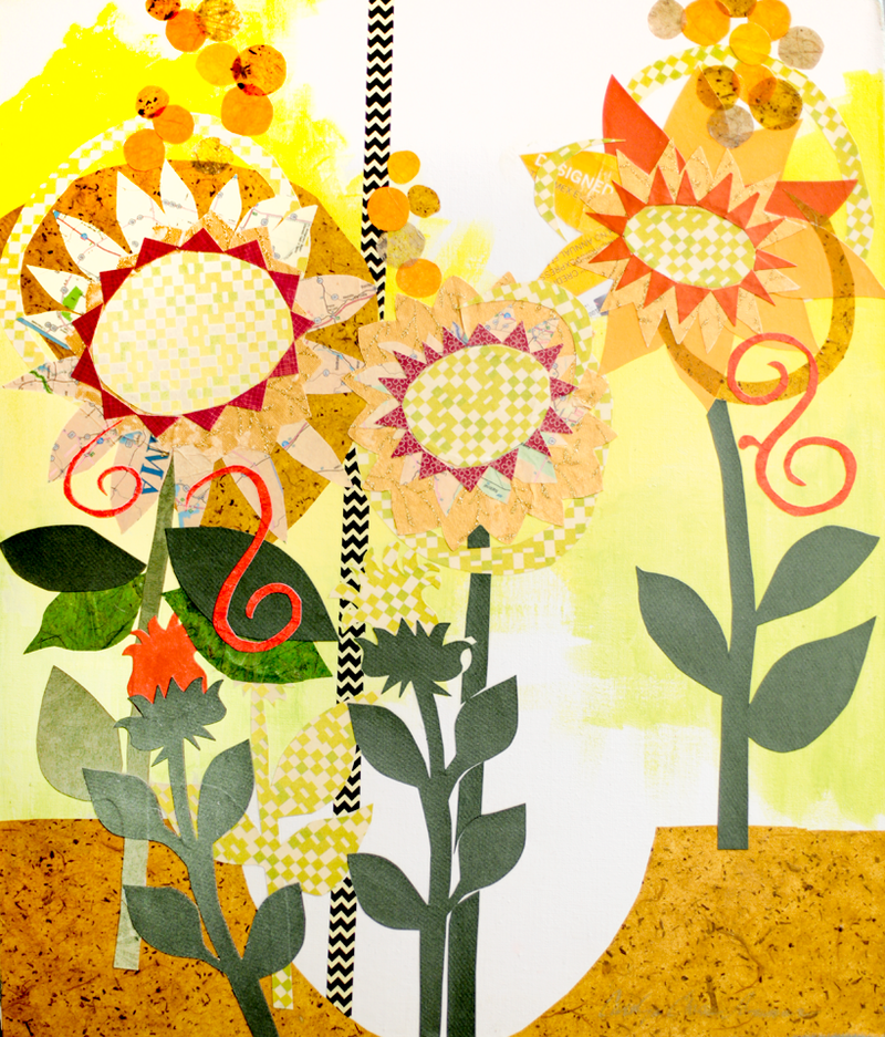 Sunflower Sunburst by Carolyn Owen Sommer