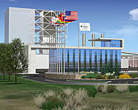 An artist's depiction of FutureGen, the near-zero emissions coal plant proposed for construction in Mattoon.