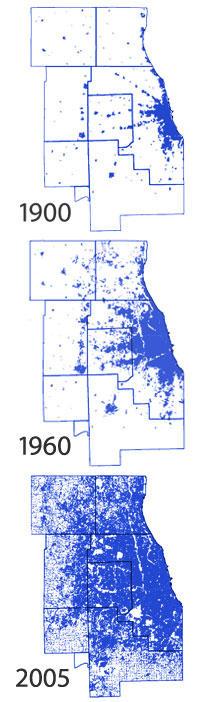 Development of land in northeastern Illinois