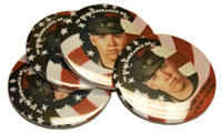 The buttons were created from photographs brought by family members of their fallen solider.