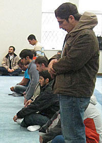 Friday juma prayer at the Central Illinois Mosque and Islamic Center