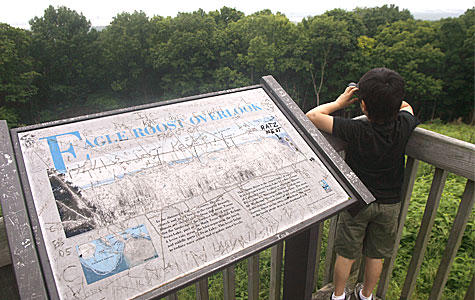 With large a backlog of maintenance and repair needs, state parks such as Starved Rock, shown here, are unable to replace even basic items such as interpretive panels that are worn out or defaced.