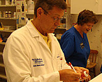 Pharmacist David Mikus of the Medicine Shoppe in Springfield